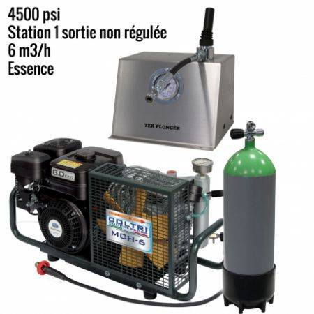 Pack MCH6 -SH Paintball 4500 psi 1 outlet