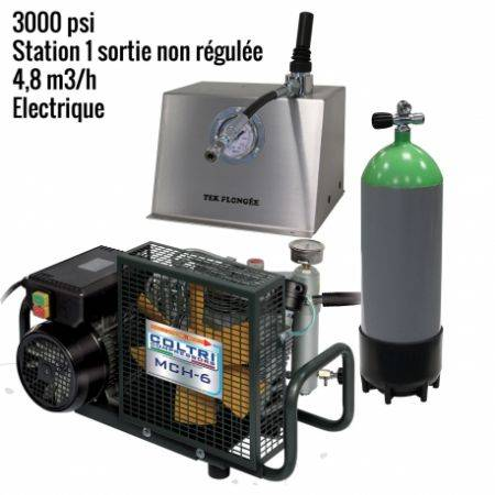 Pack MCH6 -EM Paintball 3000 psi 1 sortie