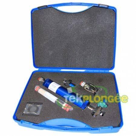 """Filtre personnel """"pro"""" / air 414 bars clapet AR purge en valise"""
