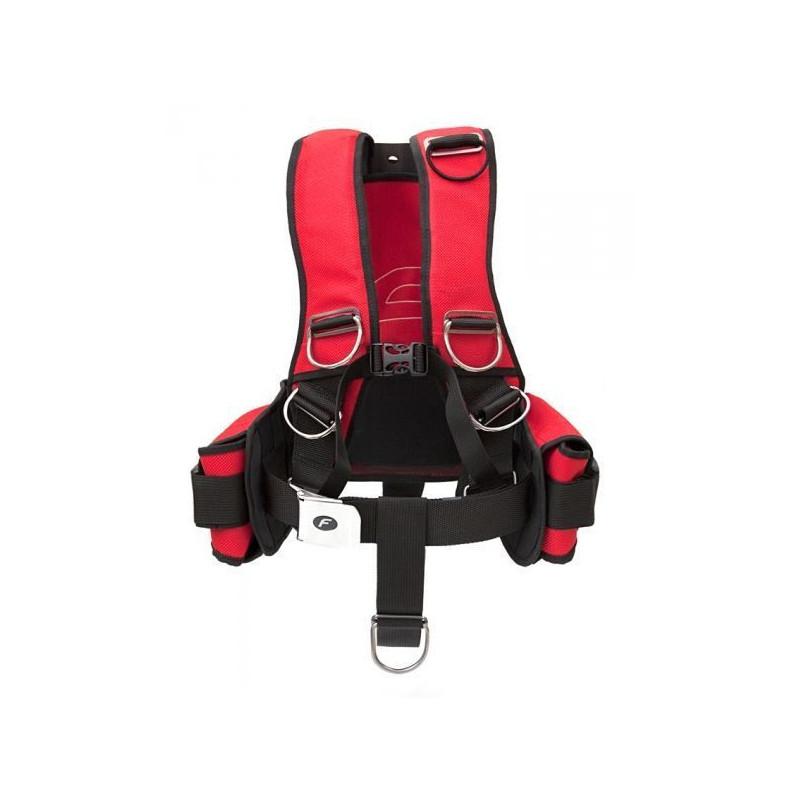 Finnsub FLY COMFORT RESCUE Harness alu/SS backplate