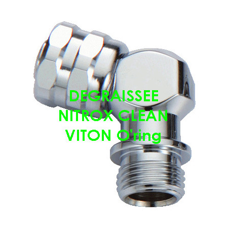 NITROX CLEAN : 110° elbow for second stage regulator