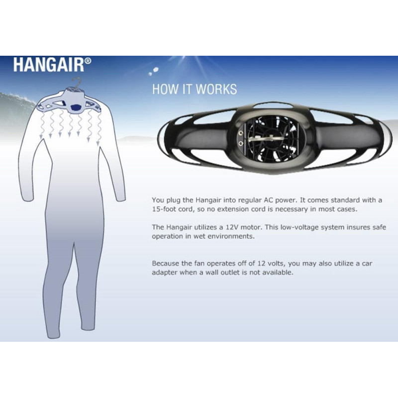 Cintre séchant HangAir® Drying System Underwater Kinetics