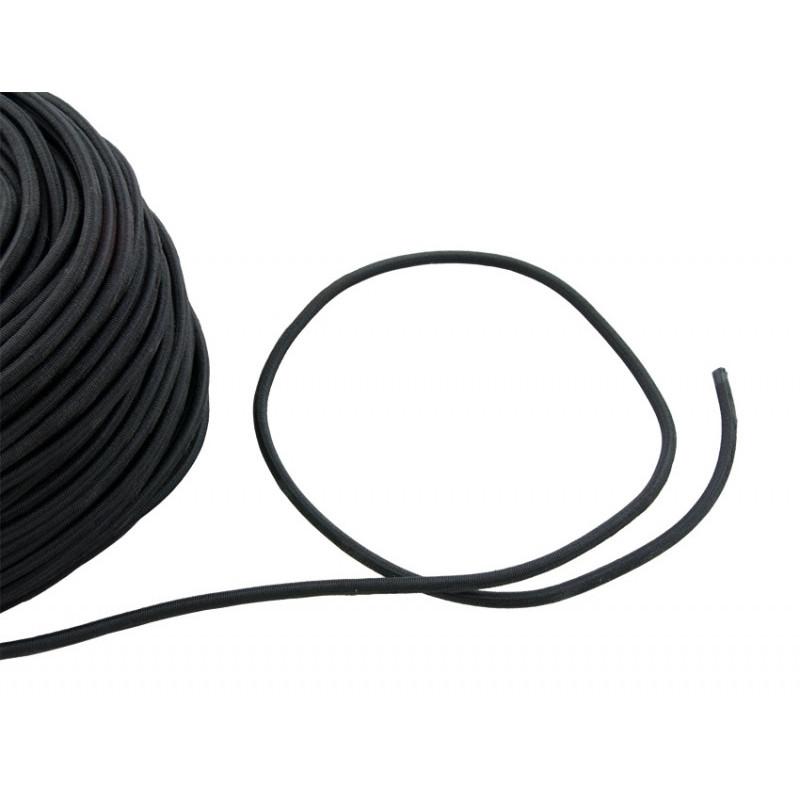 Bungee diamètre 4mm noir au mètre