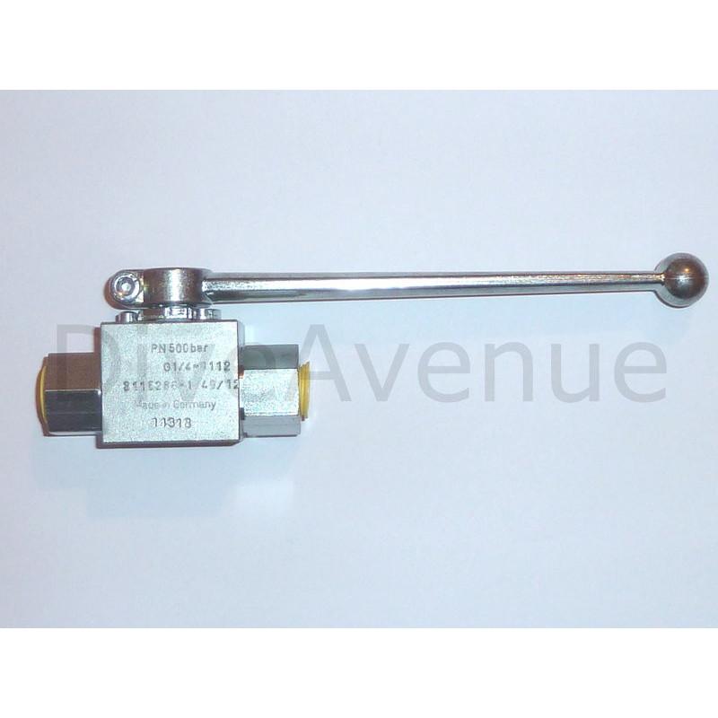 High pressure 1/4 turn valve 500bar service pressure