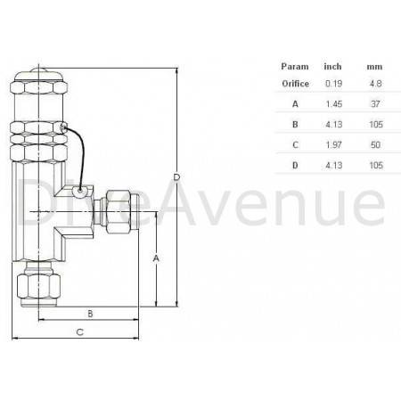 Stainless steel High pressure relief valve