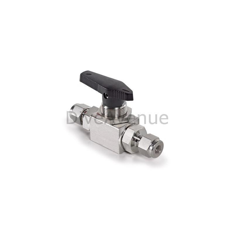 Vanne HP 1/4 de tour en inox - pression max 410bars