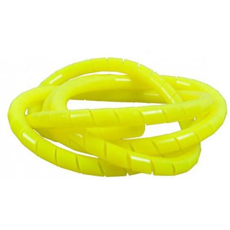 Spirale protege flexible jaune fluo 130cm