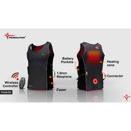 THERMALUTION YELLOW GRADE 2.0 diving heating vest