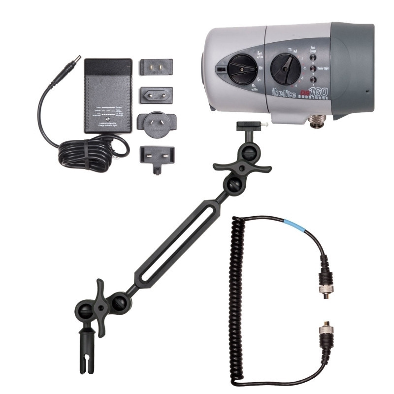 Pack Flash IKELITE DS160Ni-MH bras Alu+cordon+chargeur